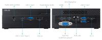 Неттоп Asus PN40-BP750ZV PS J5040 (2.0)/4Gb/SSD64Gb/UHDG 600/Windows 10 Professional/WiFi/BT/65W/черный